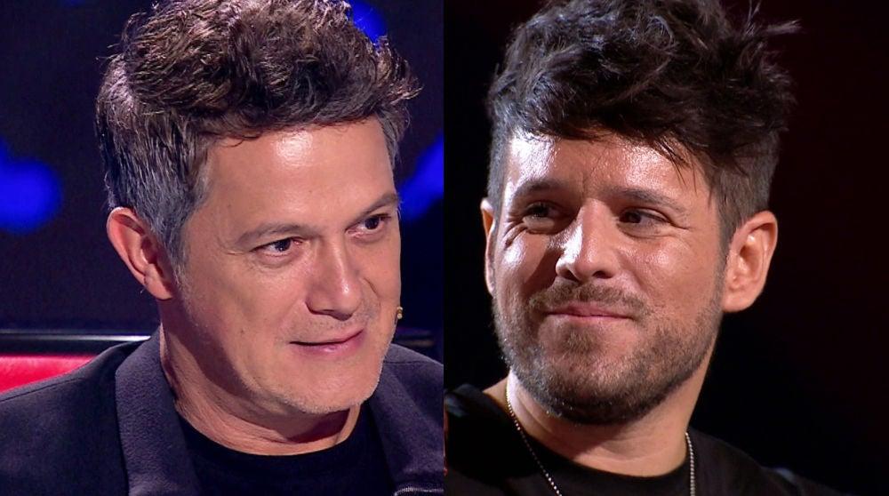 Alejandro Sanz y Pablo López en La Final de 'La Voz'