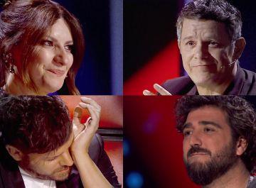 El mar de lágrimas de emoción de Alejandro Sanz, Laura Pausini, Pablo López y Antonio Orozco durante toda 'La Voz'