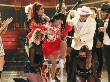Nerea Rodríguez celebra su victoria como Rosalía en la gala 13 de 'Tu cara me suena'