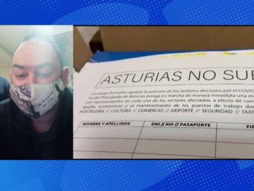 Hosteleros de Gijón se encierran voluntariamente en una iglesia para pedir ayudas.