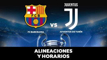 Barcelona - Juventus: Horario, alineaciones y dónde ver el partido en directo | Champions League