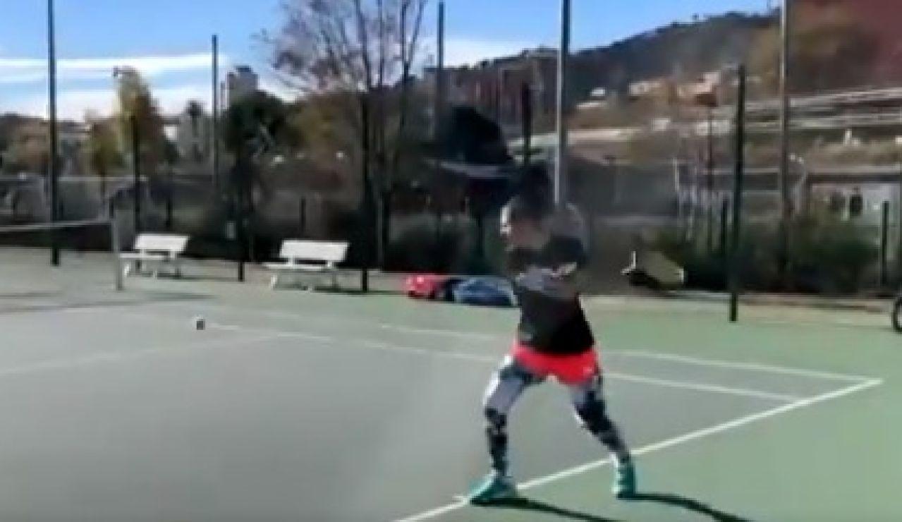Carla Suárez vuelve a jugar al tenis
