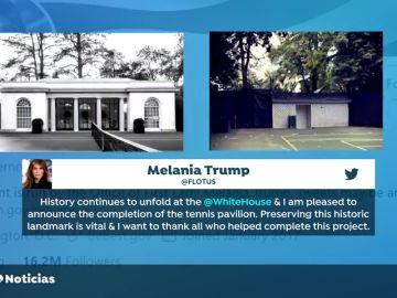Melania Trump desata la polémica tras anunciar una nueva cancha de tenis en la Casa Blanca en plena pandemia de coronavirus
