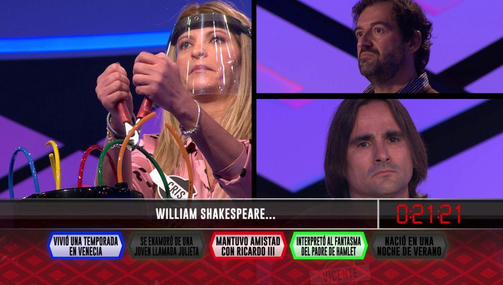 Una curiosidad sobre William Shakespeare se le resiste a 'Los concentrados'