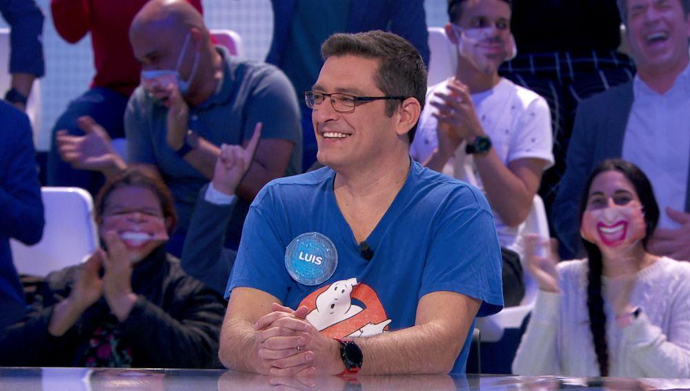 """""""¡Madre mía, cuánto fan tienes aquí!"""": el público de 'Pasapalabra' se vuelca con Luis tras su regreso al equipo azul"""