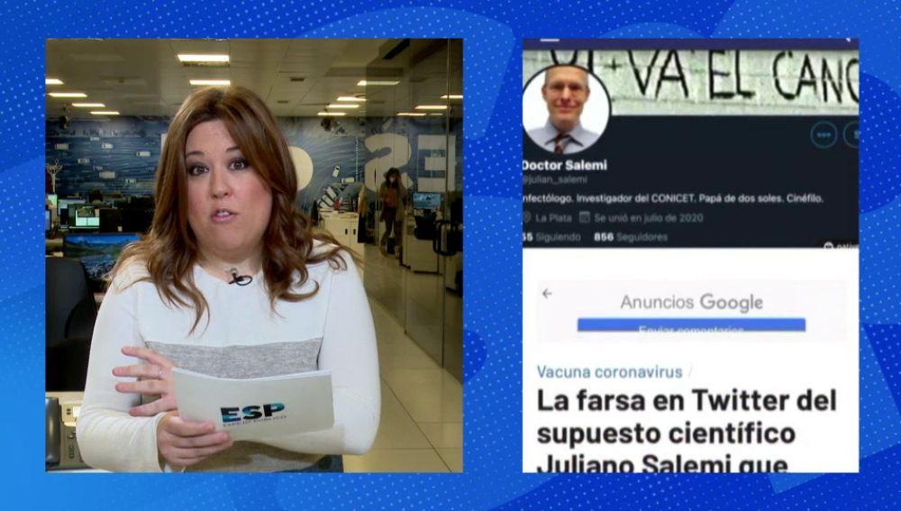 La farsa en Twitter del infectólogo Salemi