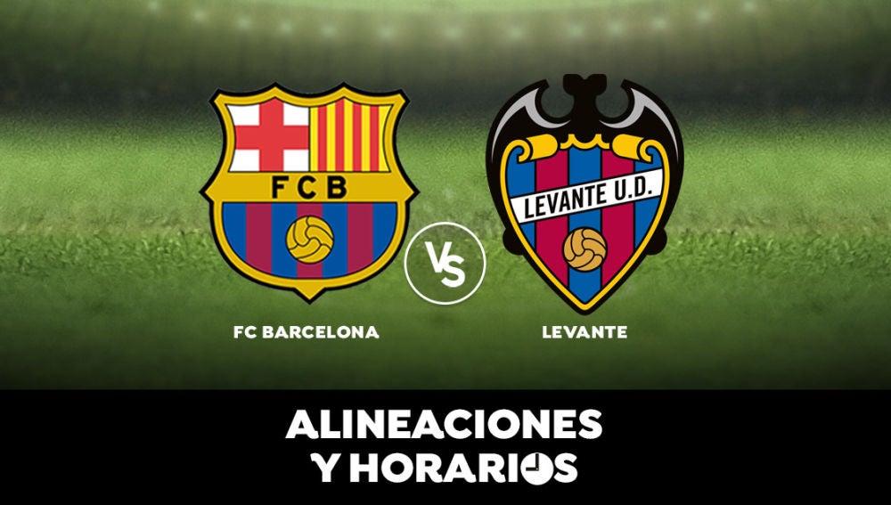 Barcelona - Levante: Horario, alineaciones y dónde ver el partido en directo | Liga Santander