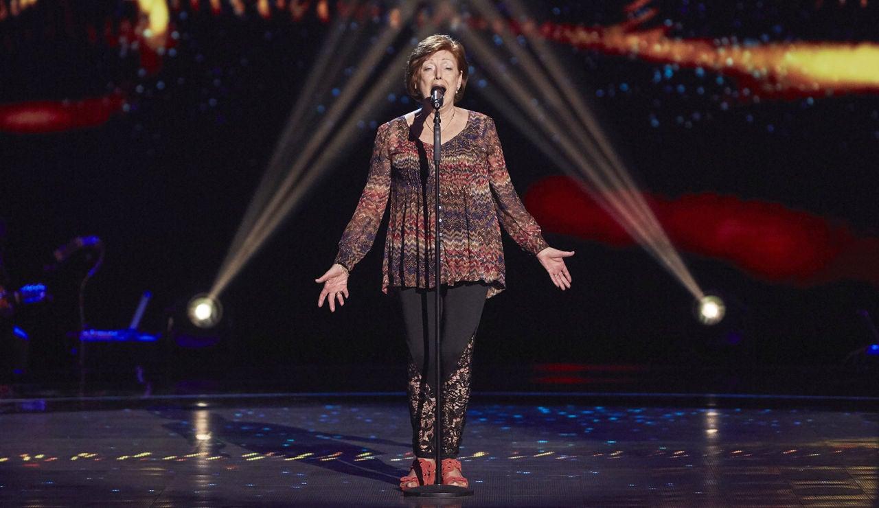 María José Moreno canta 'Al alba' en las Audiciones a ciegas de 'La Voz Senior'
