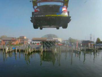 La 'gymkhana' extrema del piloto Travis Pastrana por las calles de Annapolis (Estados Unidos)