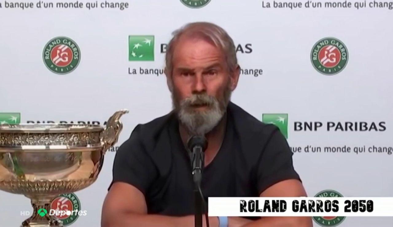 La entrevista viral a Rafa Nadal tras ganar Roland Garros en el año 2050 con 64 años
