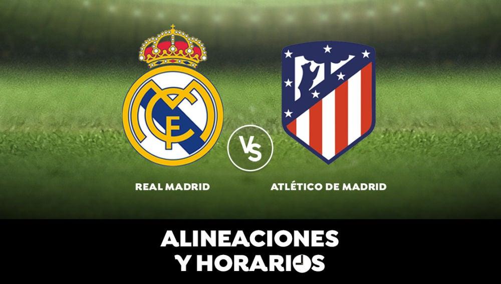 Real Madrid - Atlético de Madrid: Horario, alineaciones y dónde ver el partido en directo   Liga Santander
