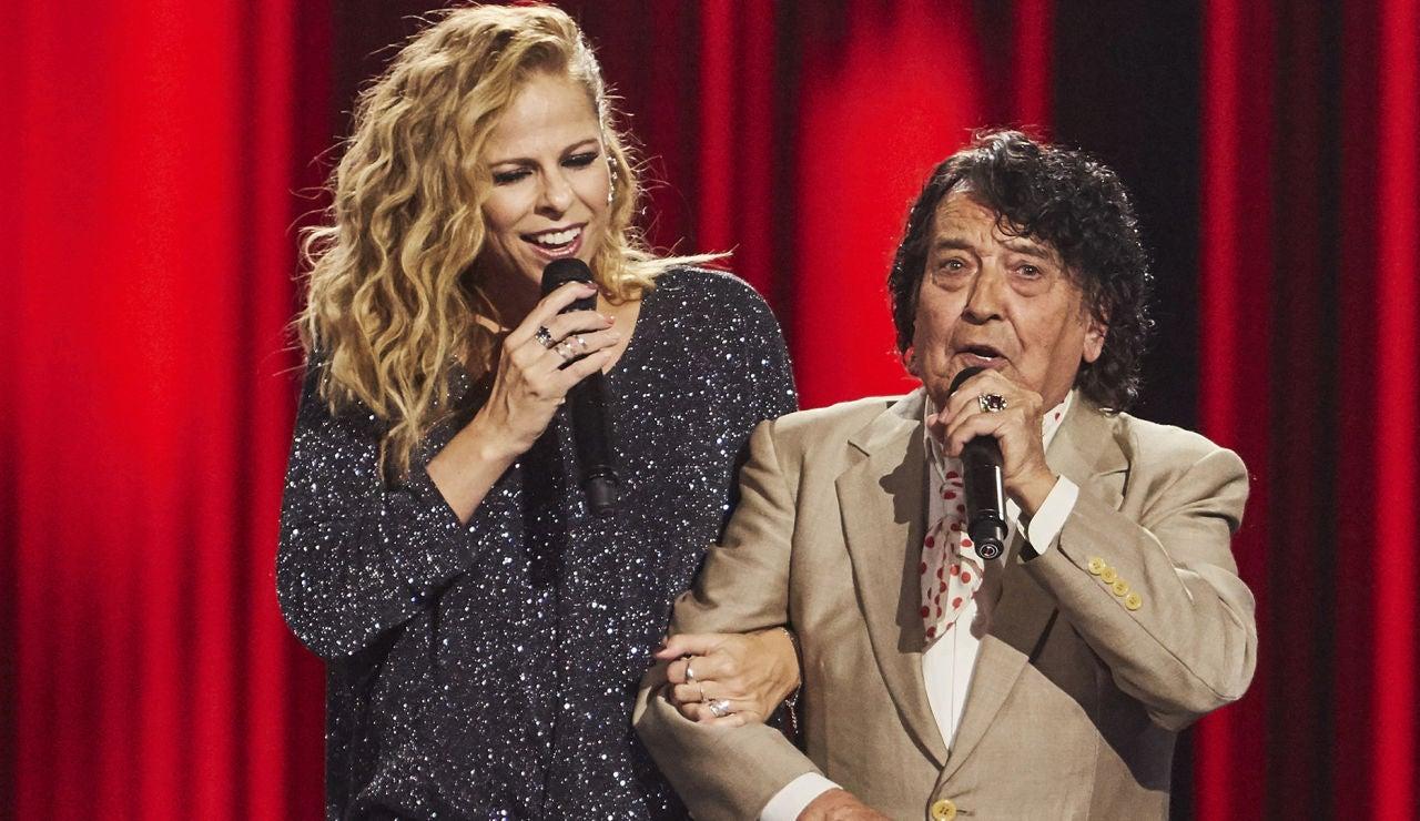 Pastora Soler canta con Emi Bonilla 'Callejuela sin salida' entre olés del público de 'La Voz Senior'