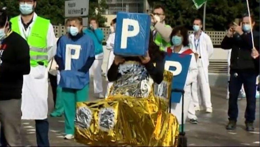 Quejas por el nuevo párking en el Hospital Vall d'Hebron