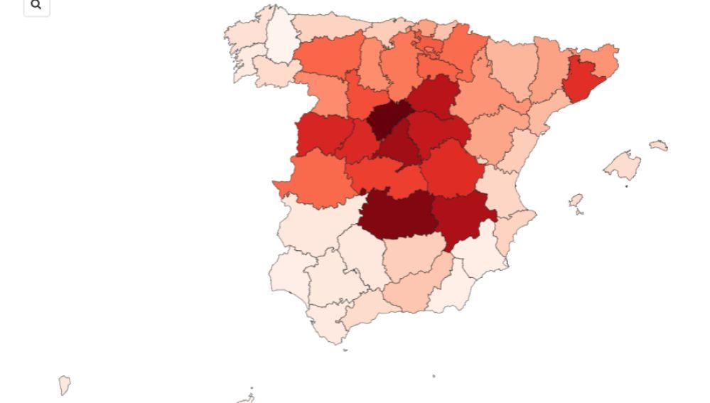 Comprueba la diferencia de muertos por coronavirus entre Gobierno y el INE por provincias