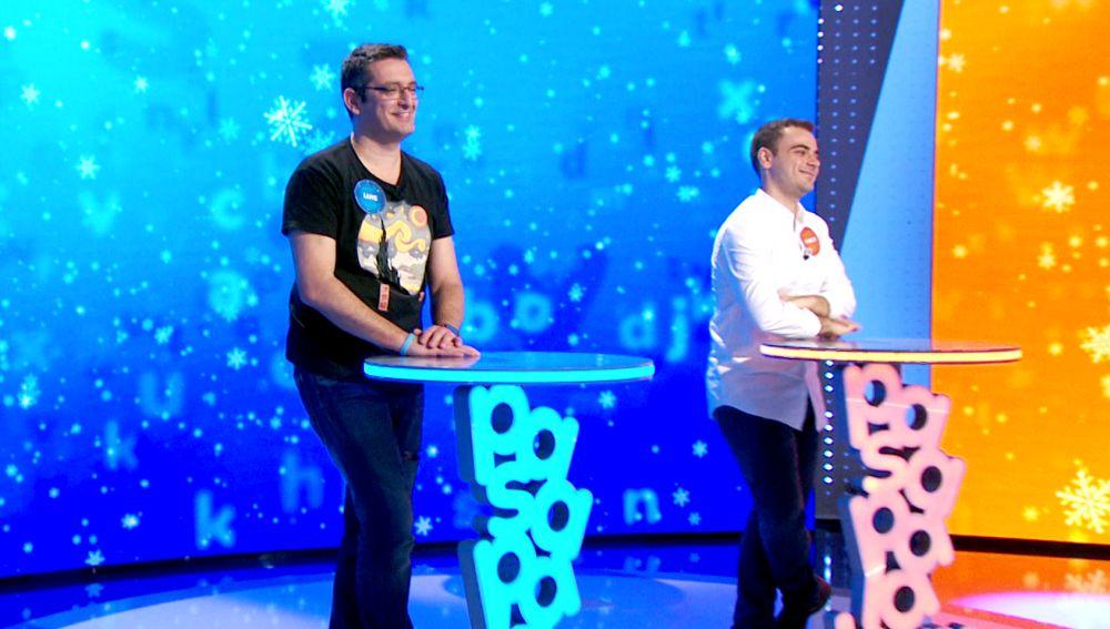 Pablo y Luis templan sus nervios para luchar en 'El rosco' por un bote de 994.000 euros