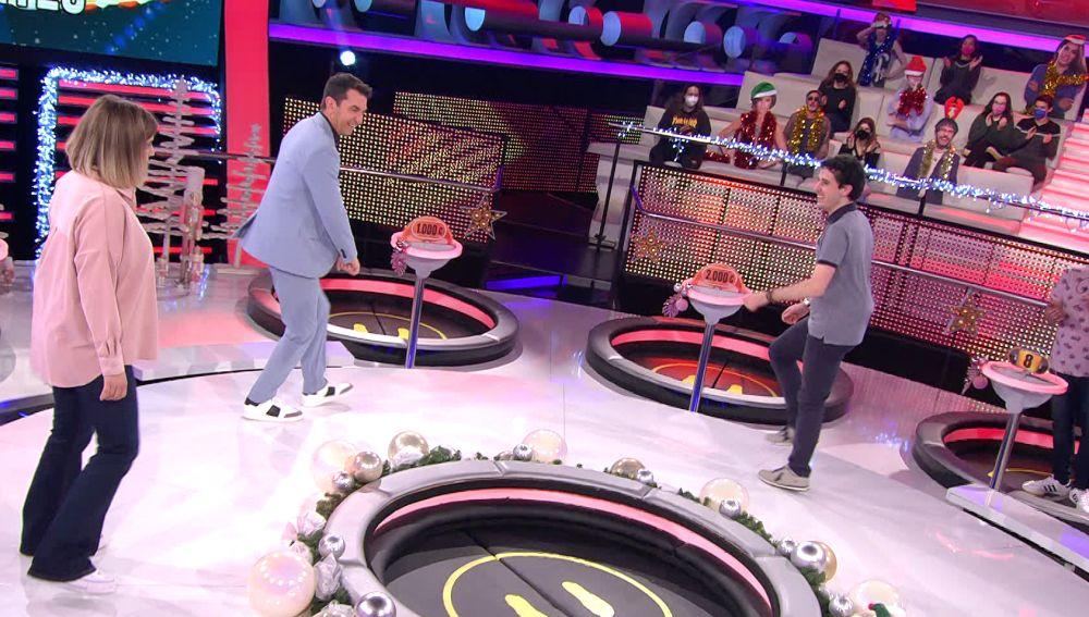 ¡Subidón en '¡Ahora caigo!'! Álvaro enseña a bailar 'shuffle dance' a Arturo Valls
