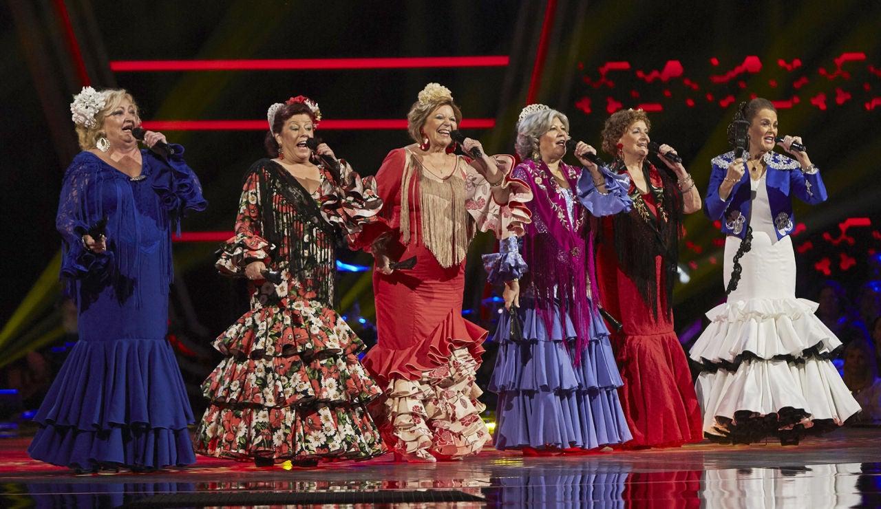 Las Senior Copleras cantan 'De Andalucía soy' en las Audiciones a ciegas de 'La Voz Senior'