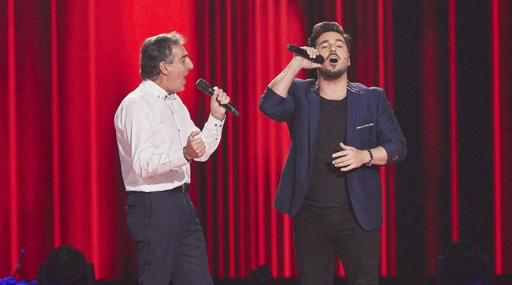 David Bustamante canta 'Perdóname' con Goyo Suárez en las Audiciones a ciegas de 'La Voz Senior'