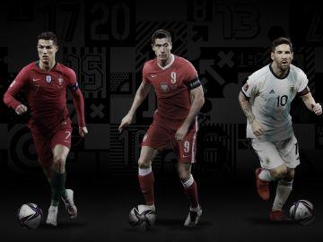 Cristiano Ronaldo, Leo Messi y Lewandowski, los tres finalistas al premio The Best de la FIFA