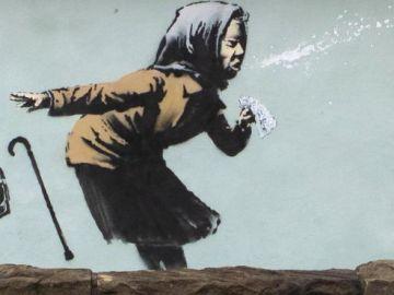 El artista callejero Bansky dedica una obra al coronavirus en Bristol