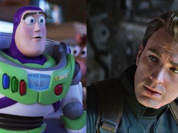 Chris Evans y Buzz Lightyear