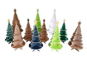 Árboles de Navidad ecológicos de cartón