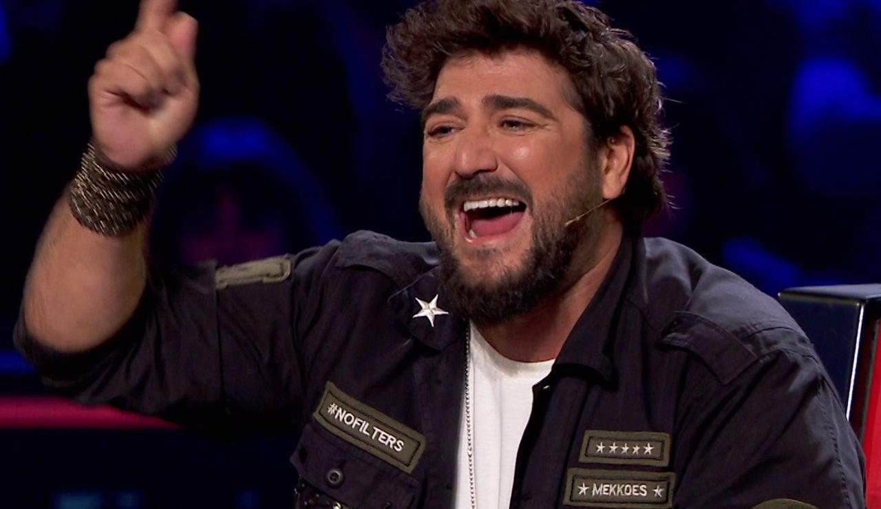 Antonio Orozco deja volar su duende y sorprende cantando sevillanas en 'La Voz Senior'