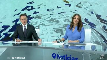 Matías Prats y Mónica Carrillo en Antena 3 Noticias