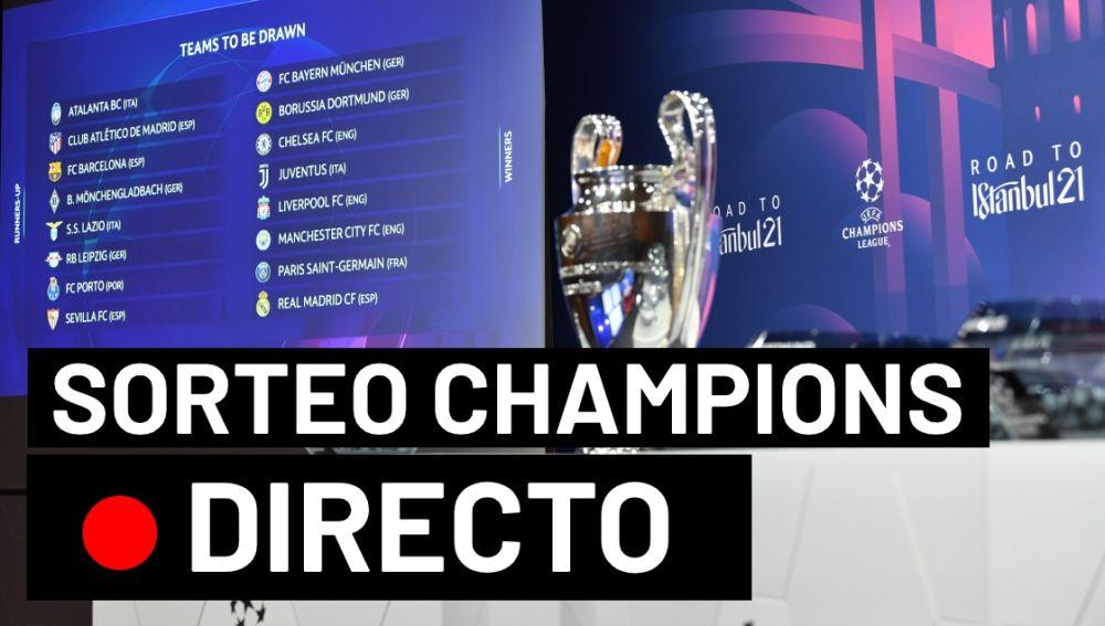 Sorteo Champions League: Cruces y emparejamientos de octavos de final en directo