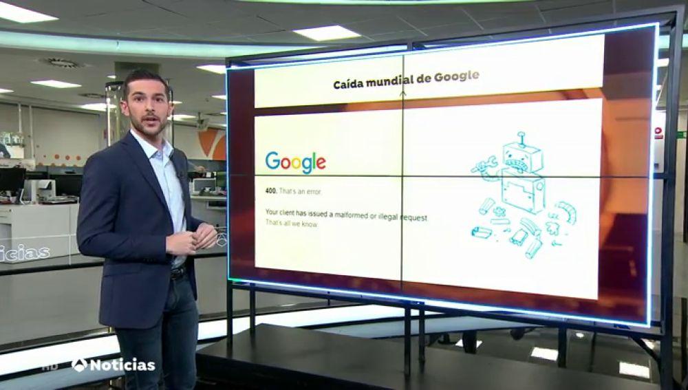 Google sufre una caída temporal y Gmail, Youtube, Google Drive y el resto de servicios dejan de funcionar