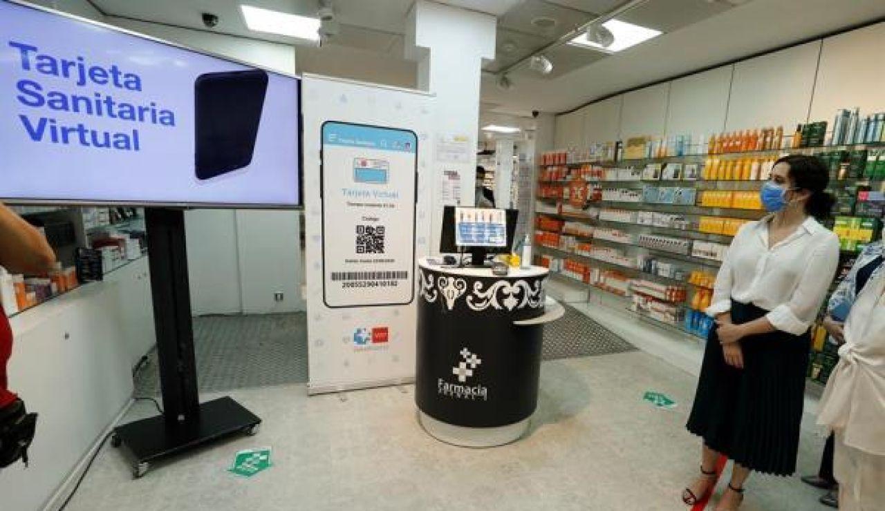 Imagen de la tarjeta virtual sanitaria en la Comunidad de Madrid