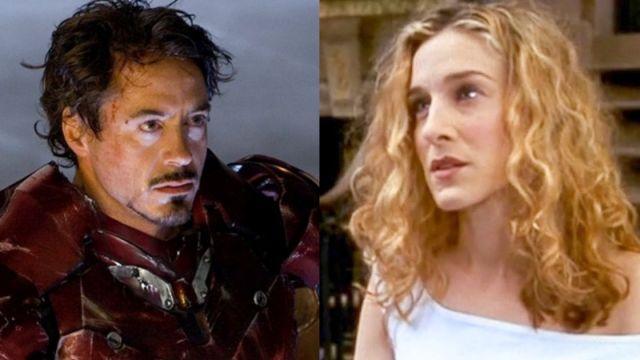 Robert Downey Jr. como Iron Man y Sarah Jessica Parker en 'Sexo en NY'