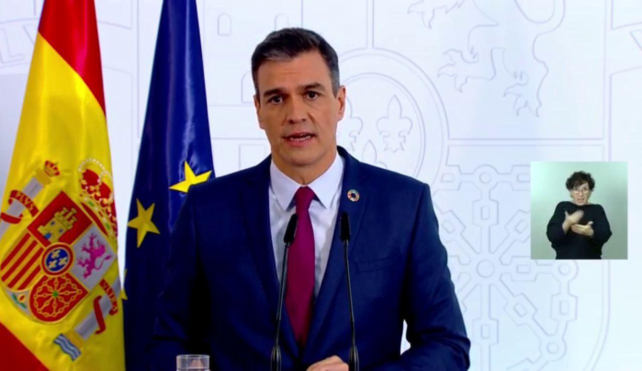 """Pedro Sánchez: """"El objetivo es evitar una tercera ola de coronavirus, no la inmunidad colectiva"""""""
