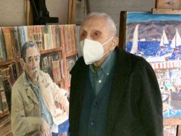La historia de Luis Torras, el pintor gallego de 108 años que vivió dos pandemias