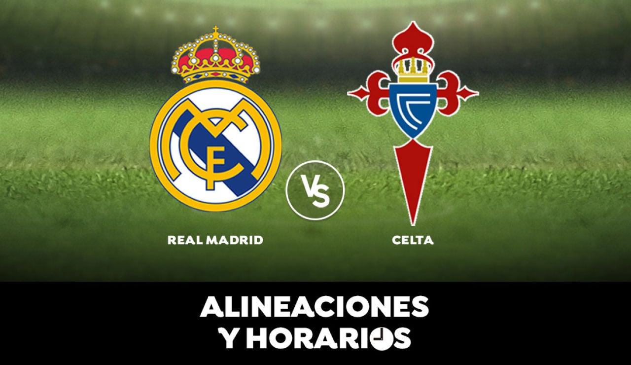 Real Madrid - Celta de Vigo: Horario, alineaciones y dónde ver el partido en directo | Liga Santander