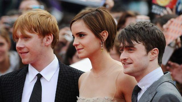 Rupert Grint, Emma Watson y Daniel Radcliffe
