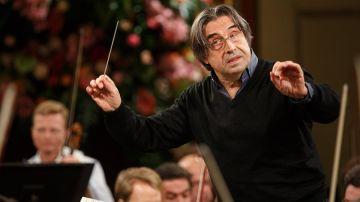 El maestro italiano Riccardo Muti. Concierto de Año Nuevo Viena