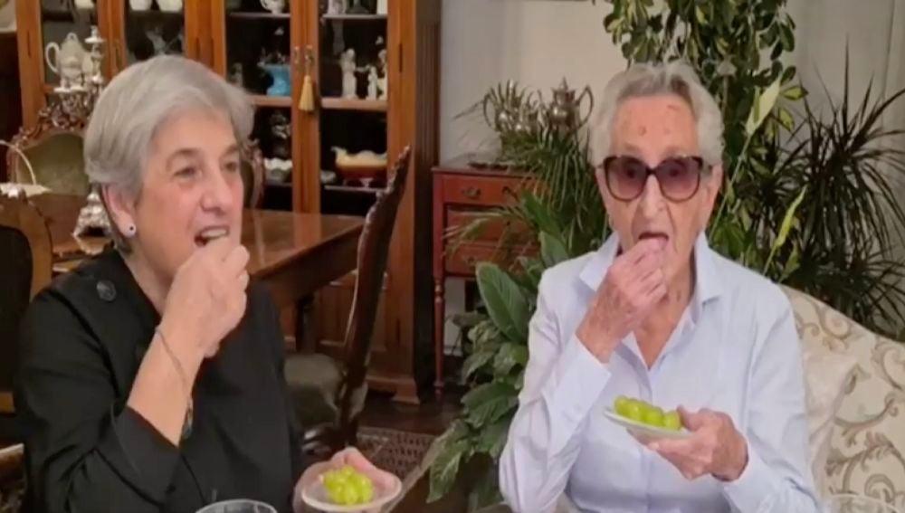 Paquita, de 107 años, supera el coronavirus y celebra año nuevo con su familia
