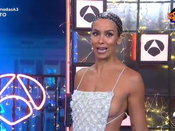 El vestido de Cristina Pedroche en las Campanadas 2020: brillantes y un homenaje a la mascarilla