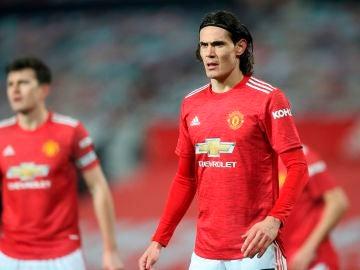 Edinson Cavani, con el United