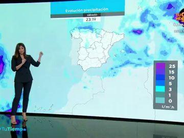 La previsión del tiempo hoy: Las lluvias del Cantábrico se extienden al sistema central e ibérico