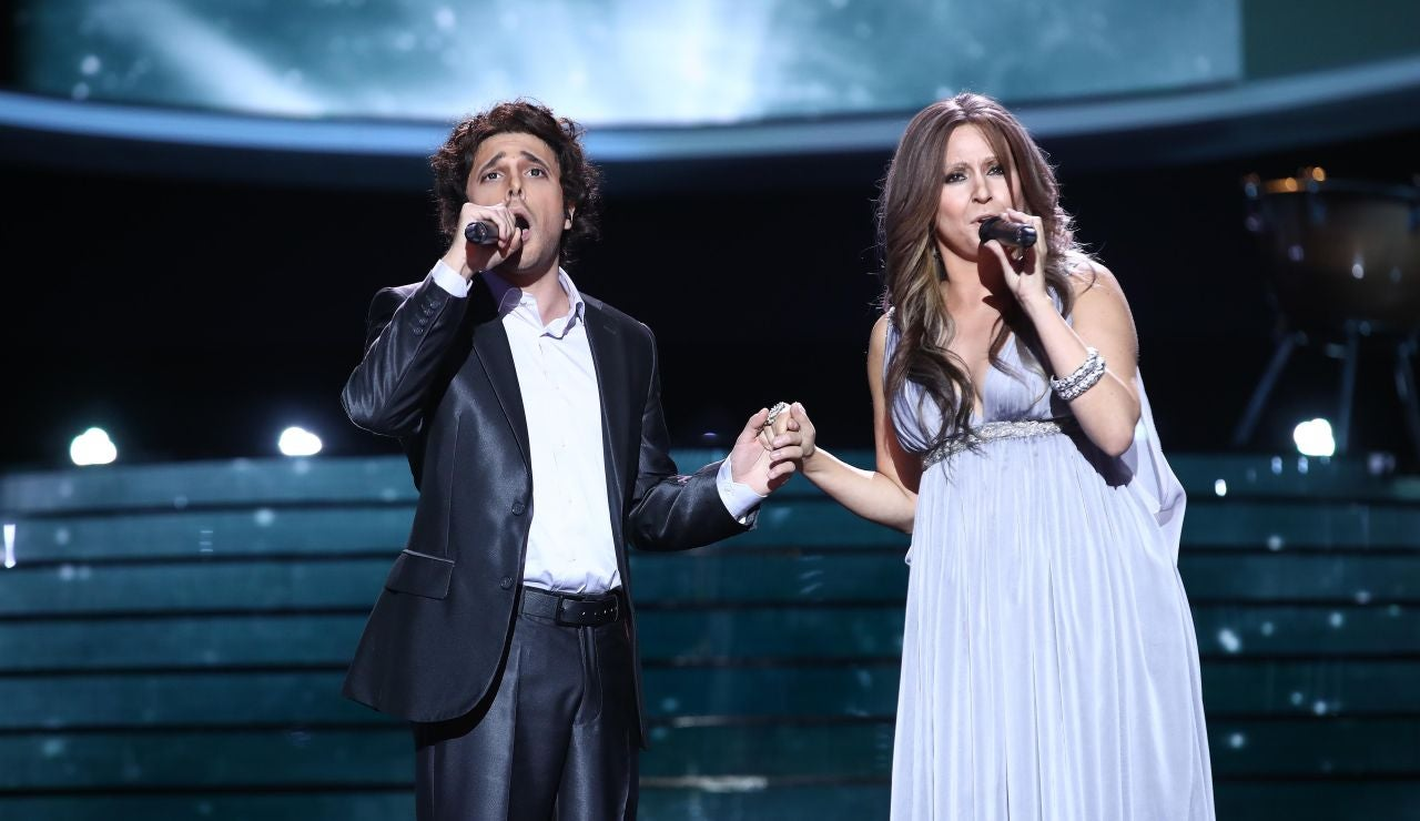Cristina Ramos y Blas Cantó emocionan como Céline Dion & Josh Groban en 'The prayer'