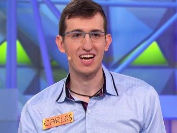 Carlos canta 'Toxicidad fuera' en 'La ruleta de la suerte'