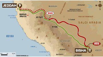 Rally Dakar 2021: Recorrido de la etapa 1 hoy, domingo 3 de enero, Jeddah - Bisha