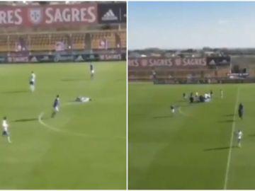 Un jugador cae desplomado al sufrir una parada cardíaca en pleno partido de Tercera portuguesa