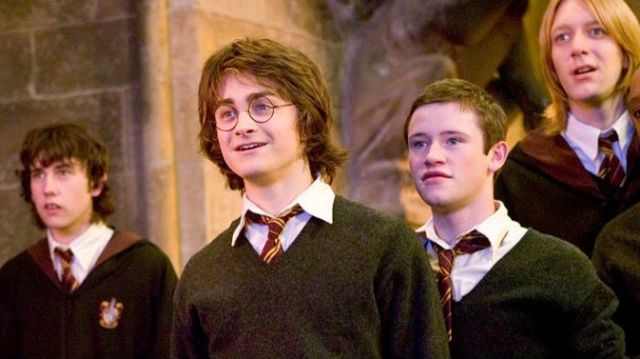 Daniel Radcliffe y Devon Murray en 'Harry Potter'
