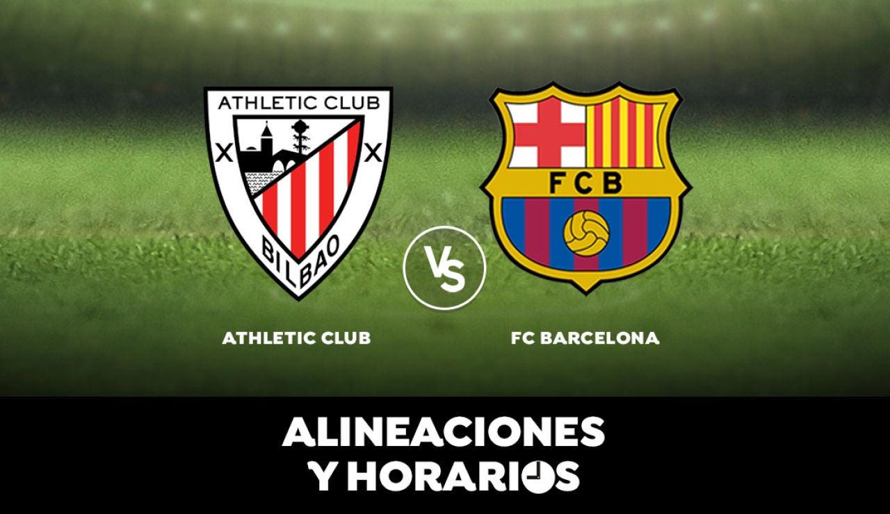 Athletic Club - Barcelona: Horario, alineaciones y dónde ver el partido en directo | Liga Santander
