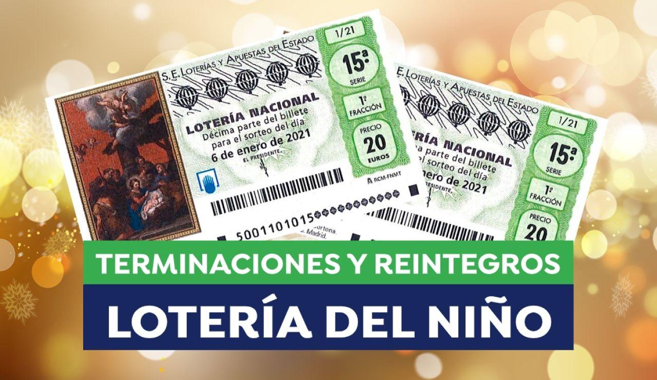 Lotería del Niño 2021: Reintegros y terminaciones premiadas en el sorteo de hoy