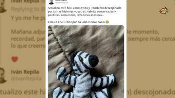 'The Cebrit': el drama viral de un padre por encontrar el peluche perdido de su hija