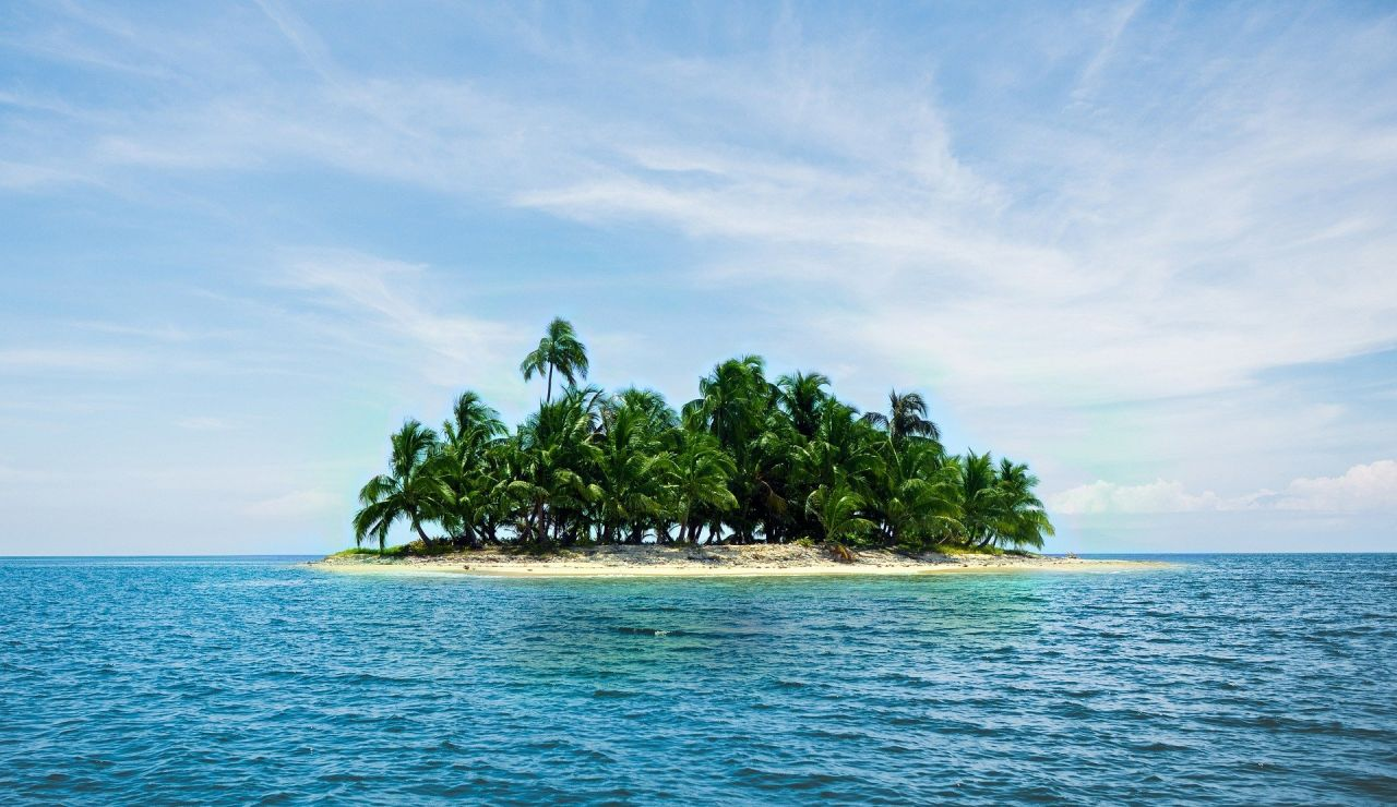 Isla pequeña donde vive una pareja para huir del coronavirus